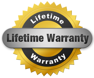 LIFETIME WARRANTY LOGO GOLD SEAL