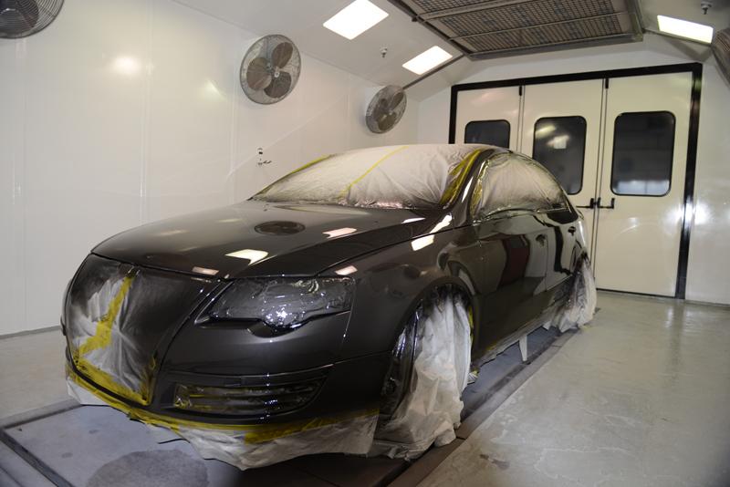 paintshop inside vw painted