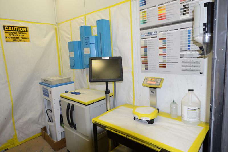 paintshop mixing room